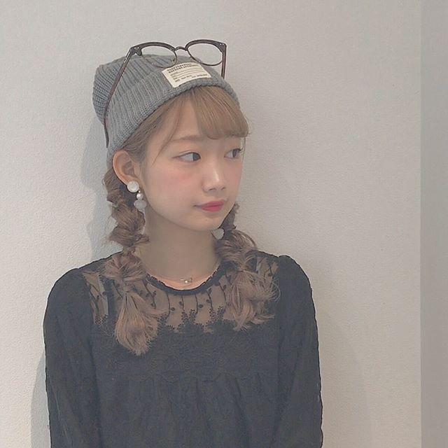 メガネ×帽子×ツインテール