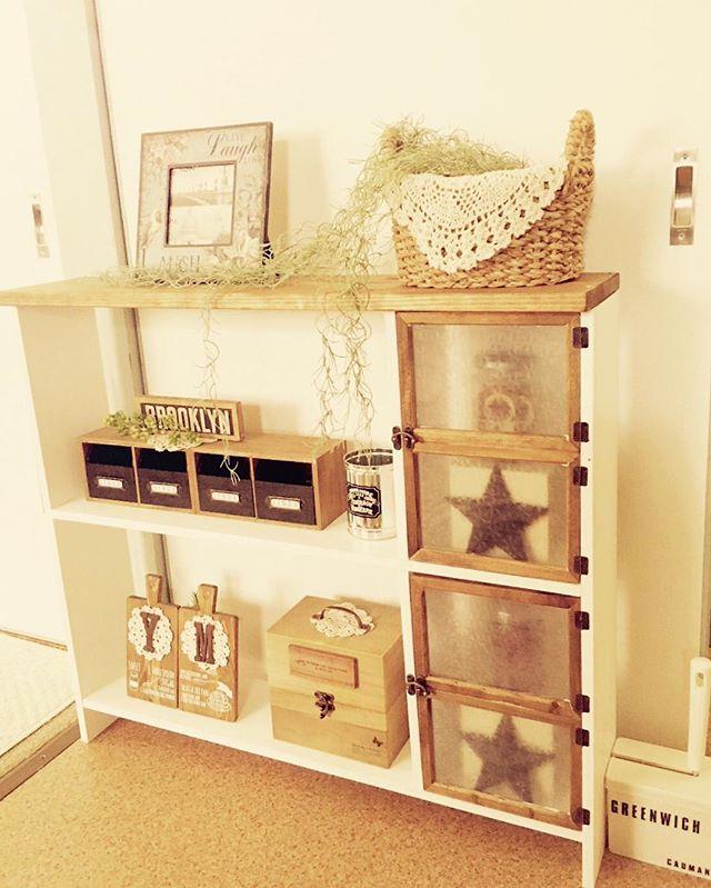家具DIY 棚 セリア フォトフレーム