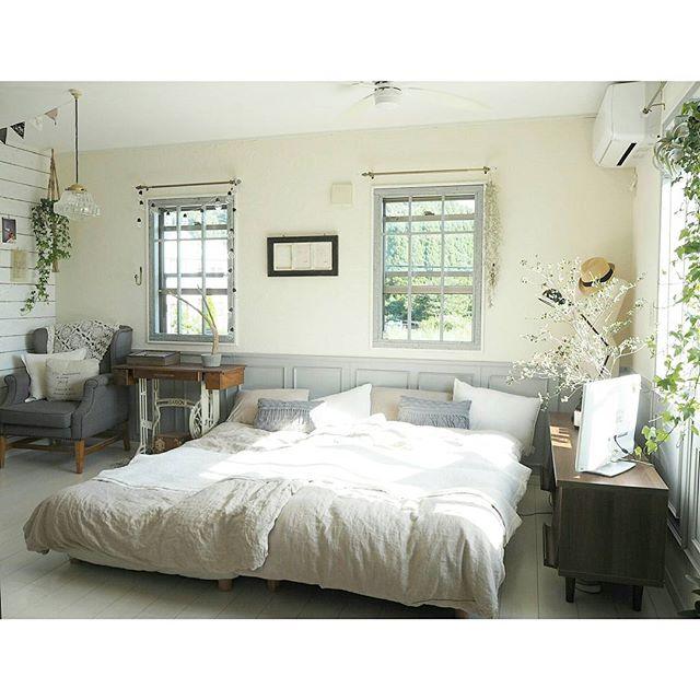 春インテリア 寝室 アンティーク
