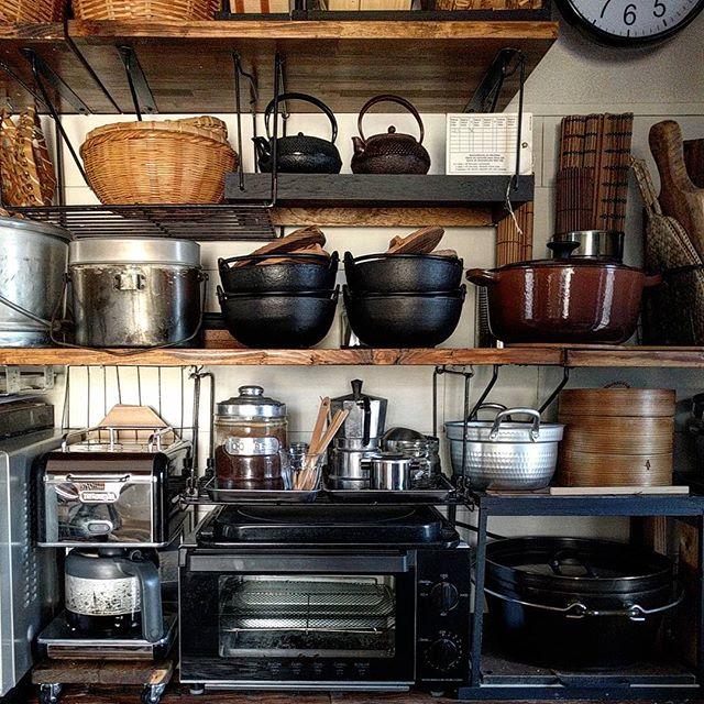 キッチン用品で見せるおしゃれなインテリア2