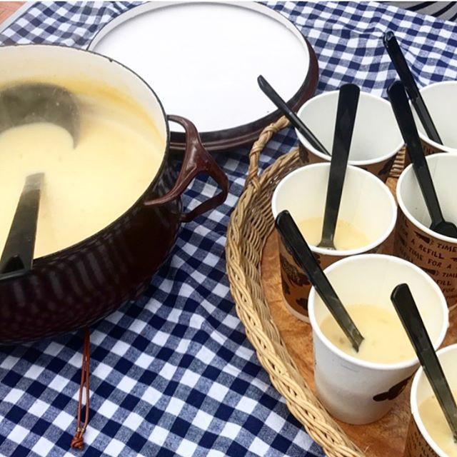 温かいスープを