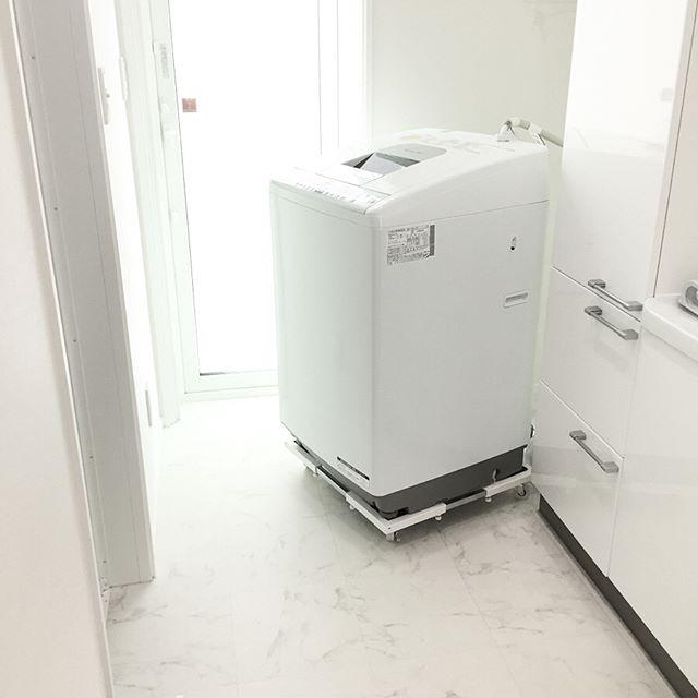 ランドリー収納 洗濯機 キャスター台
