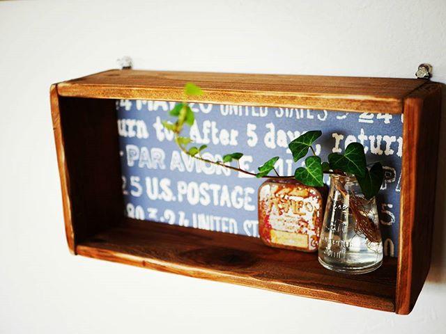 輸入壁紙 DIY 木箱