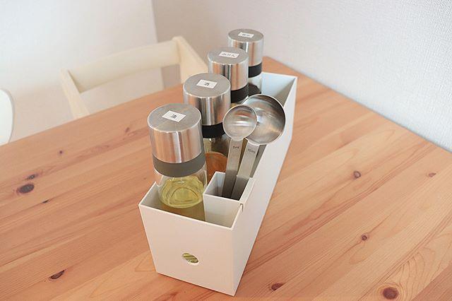 ファイルボックス収納 キッチン 調味料