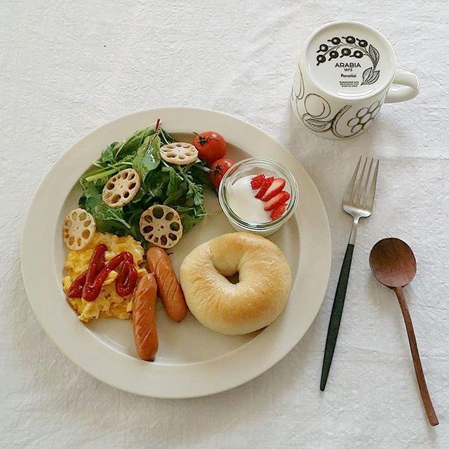 パンがメインの朝食シーン4