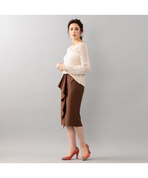 [GUILD PRIME] 【LOVELESS】アシンメトリーフリルタイトスカート