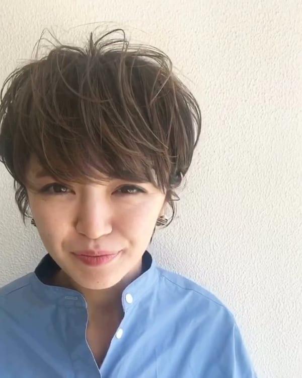 くせ毛ショート スタイリング2