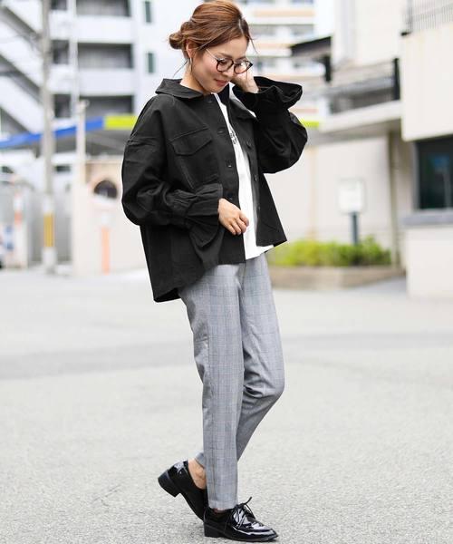 [Fashion Letter] キャンディー袖ミリタリージャケット