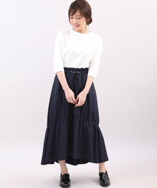 [Maison de Beige] ウエストシャーリングスカート《Prime flex》【FUDGE5月号掲載】