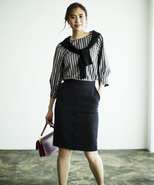[green label relaxing] [手洗い可能/シルキーツイル] ◆D デザイン タイトスカート