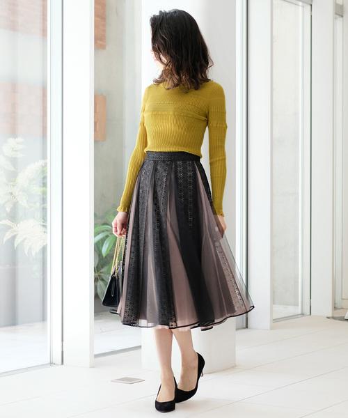 [STRAWBERRY-FIELDS] ピエスモンテ スカート