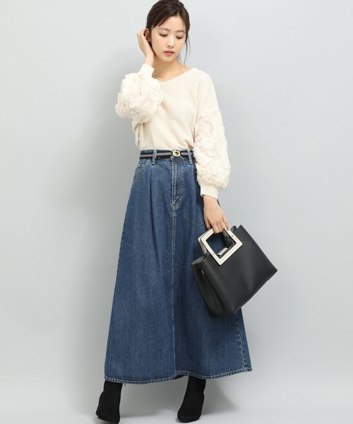 【Lee×VIS】マキシフレアデニムスカート