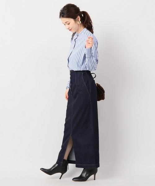 [IENA] ボタンフライデニムタイトスカート◆