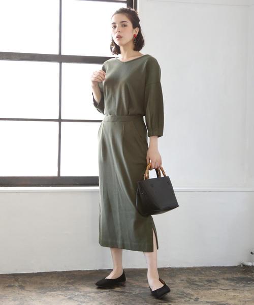 [coen] 【セットアップ対応】スラブポンチロングスカート