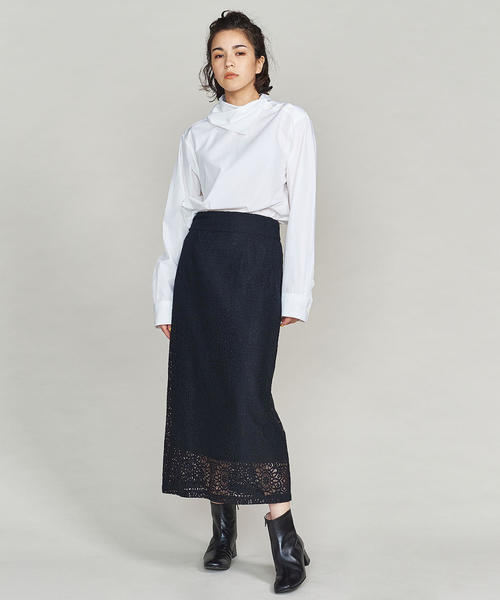 [BEAUTY&YOUTH UNITED ARROWS] BY レースロングタイトスカート o