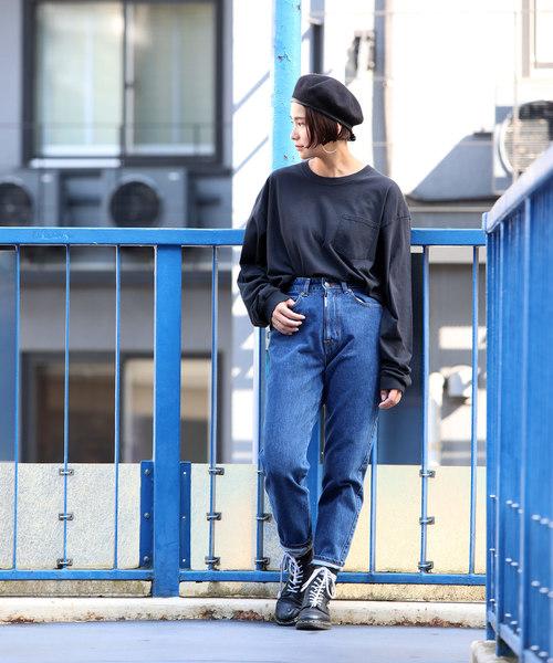 [FREAK'S STORE] 【WEB限定】GILDAN/ギルダン カスタムフィット ビッグシルエット ポケット長袖Tシャツ