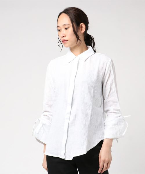 [ROSE BUD] (THE FIFTH LABEL)ドロストスリーブシャツ