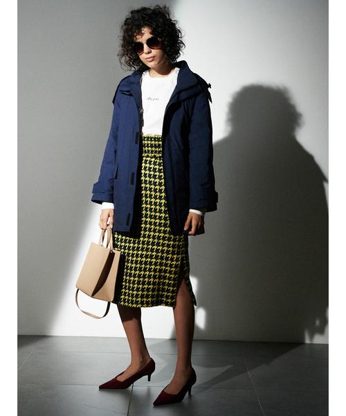 [Mila Owen] シャーリングベルト付タイトスカート