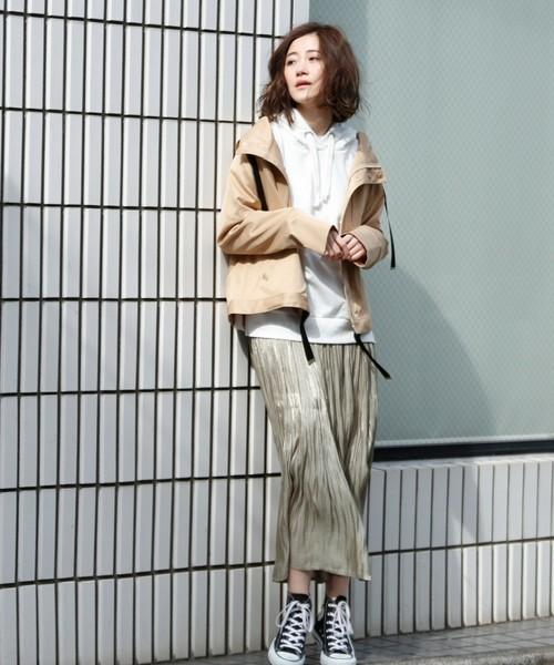 [GeeRA] 【19春新着】ボンディング素材マウンテンパーカー