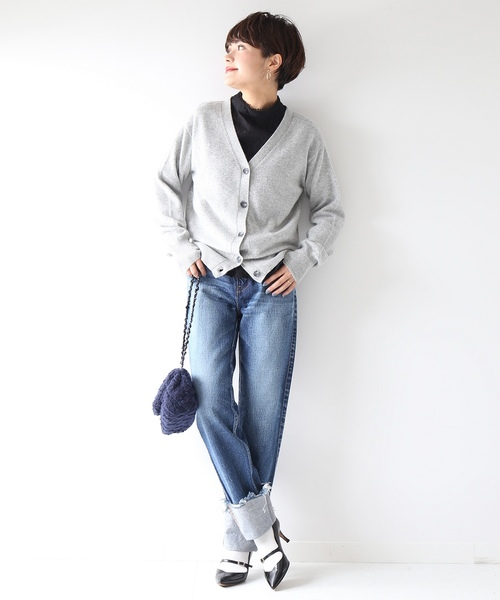 [Spick & Span] PURE CASHMERE 2WAY Vカーディガン◆