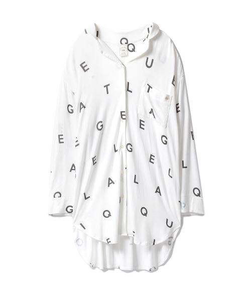 [gelato pique] アルファベットビッグシャツ
