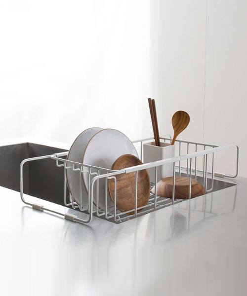 [sarasa design store] nsp ディッシュラック/水切りかご 基本セット|リフトアップバータイプ