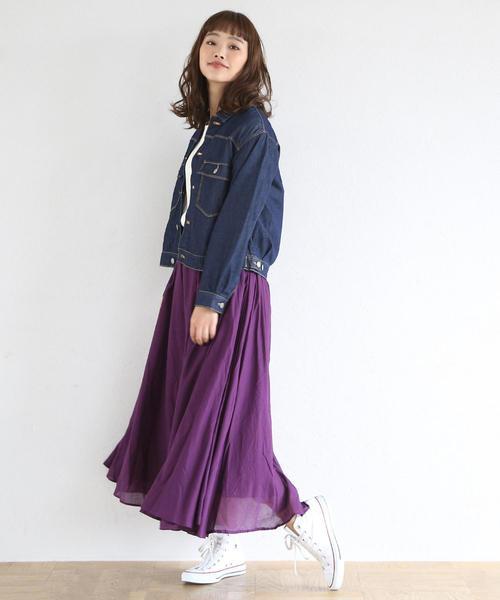 [coen] 【『MORE』3月号掲載・Market】ソリッドマキシスカート2