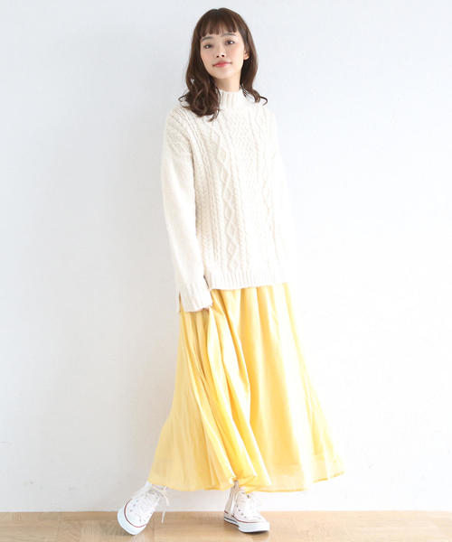[coen] 【『MORE』3月号掲載・Market】ソリッドマキシスカート