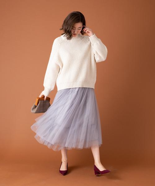 [YARD PLUS] 【ZOZOTOWN限定!】AUNT MARIE'S チュールロングスカート2