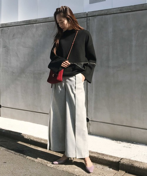 [Ameri VINTAGE] HIGH WAIST BELT PANTS