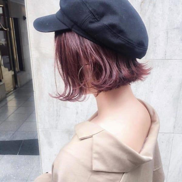【2019】流行のピンク系ヘアカラー8