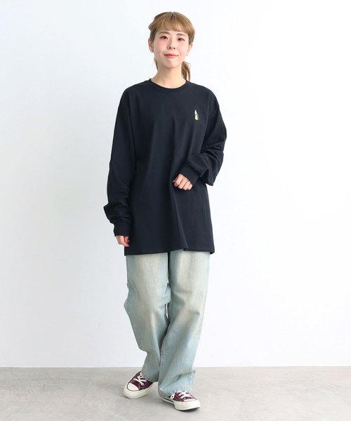 [Dot&Stripes CHILDWOMAN] Drink刺繍 ロングTシャツ