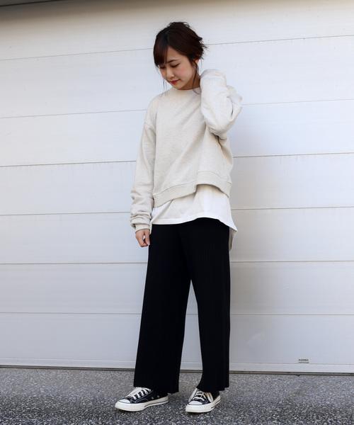 【Holiday】リブニットパンツ