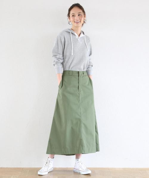 [coen] 【別注】Dickies(ディッキーズ)フレアロングスカート