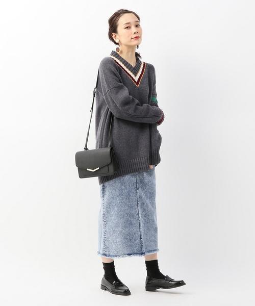 [Spick & Span] ウェスタンペンシルデニムスカート◆