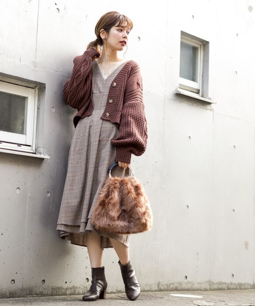 [natural couture] レディカシュクールワンピ
