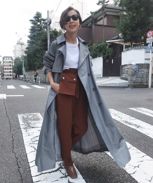 [Ameri VINTAGE] VARIOUS BACK PLEATS TRENCH