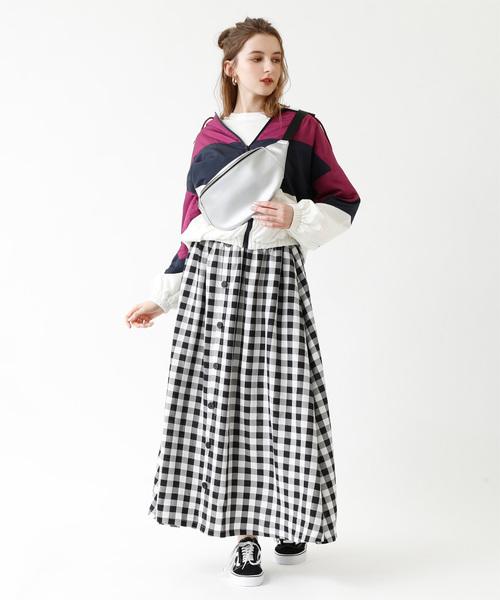 [titivate] 配色マウンテンパーカー/ブルゾン