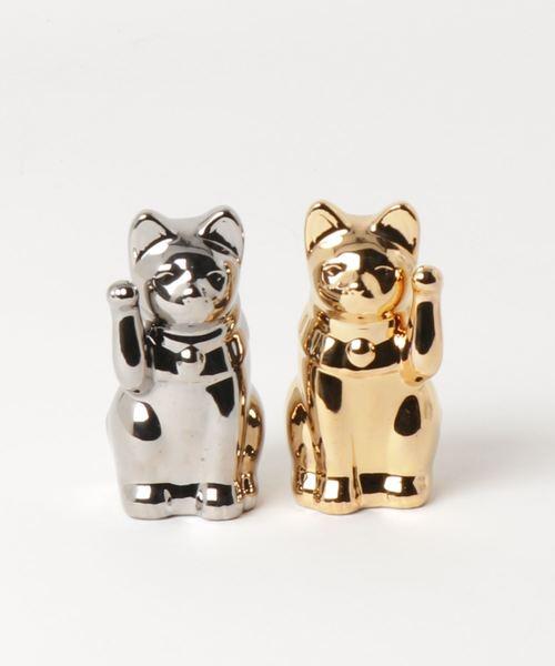 まねき猫 金&銀 3号 セット