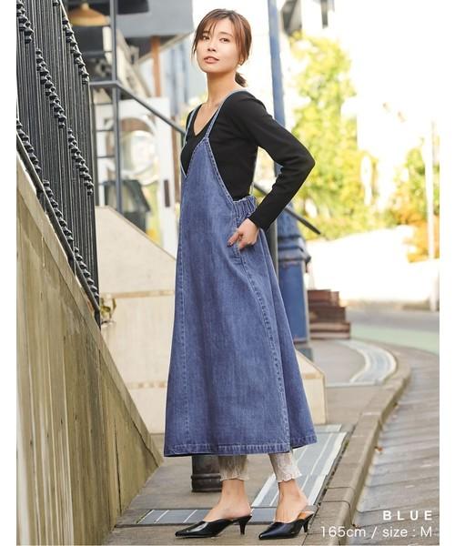 [Re:EDIT] ヴィンテージライクデニムジャンパースカート