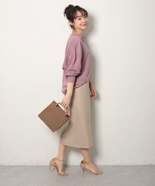 [Shelly island] 【Marie Hill】カルゼフロントボタンナロースカート