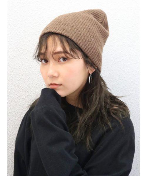 [Ungrid] リブ編みニット帽2