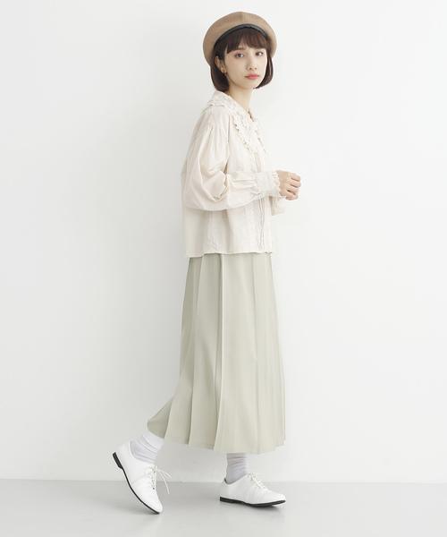 [merlot] タックプリーツスカート2522