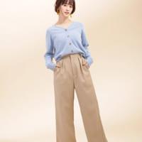 「ベージュ&グレー系パンツ」15選☆春のベーシックコーデをアップデート