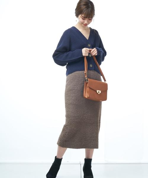 [natural couture] 春色アイレットカーディガン