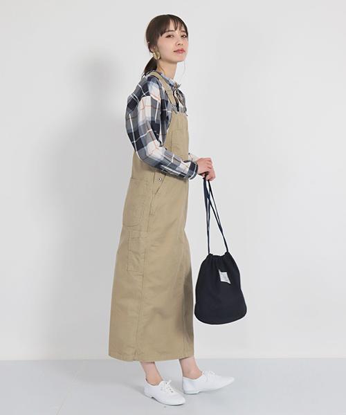 [DOMINGO] [D.M.G / ディーエムジー] ムラチノ硫化染め ジャンパースカート
