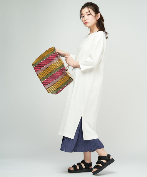 [Discoat] 綿テンセルTシャツワンピース