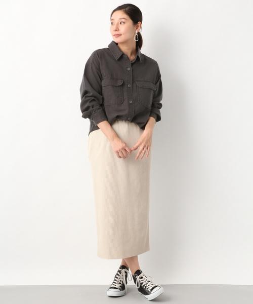 [LEPSIM] ミリタリービッグシャツ/LS