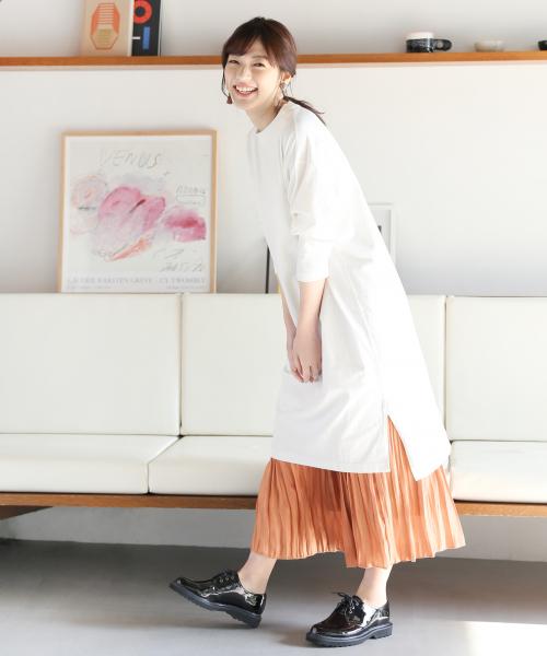 [GLOBAL WORK] シャイニープリーツスカート/823639