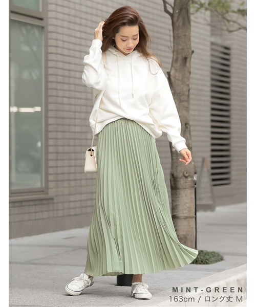 [Re:EDIT] ロング丈ジョーゼットプリーツスカート